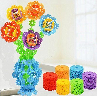 Supstar 100pcs 5 Colors Environmentally-friendly Plastic Snowflake Creative