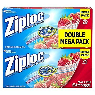Storage Bags Gallon Mega Pack 150 Count