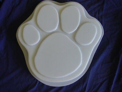Dog Cat 13 Inch Paw Print Stepping Stone Concrete Plaster Mold 1030
