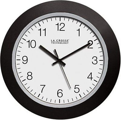 La Crosse Technology WT-3102B 10-Inch WWVB Self-set Analog Wall Clock