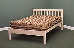 Full Size Charleston Platform Bed Frame - Solid Hardwood