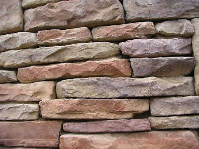1 Set of 16 Molds to Make Drystack Ledgestone Rocks, ODL-02