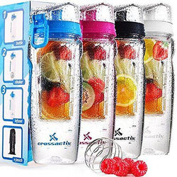 32oz Fruit Infused Water Bottle -  BPA Free Protein Shaker 32oz