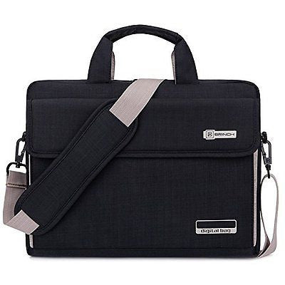 Brinch Unisex Oxford Laptop Sleeve Messenger Shoulder Bag for 15 - 15.6-Inch