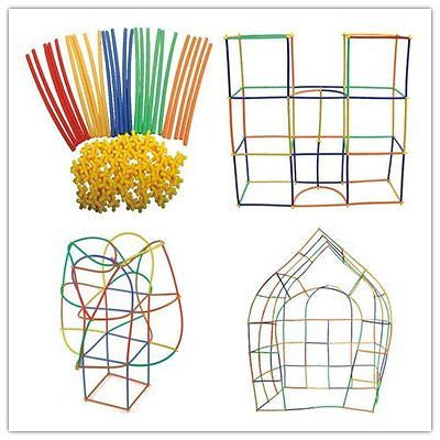 Straw Constructor Interlocking Plastic Enginnering Toys-Colorful Building