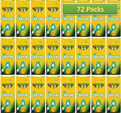 72 Boxes Crayola? 4-ct. Crayon Party Favor Pack New Spring Color