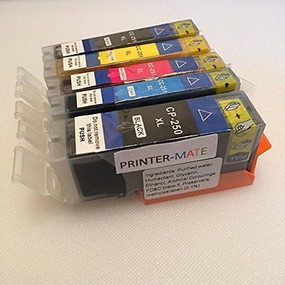 Canon Edible Ink 5 Pack Canon PGI 250 CLI 251 HIGH YIELD 250 251 MG5420, MG5520