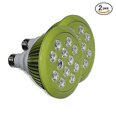 (2 pack) 12W LED Grow Light bulbs, Energy Efficient Indoor Garden For E27 Grow