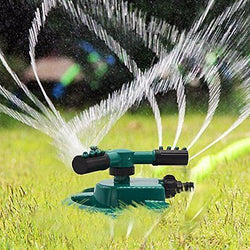 Freehawk? Lawn Sprinklers/Garden Hose Durable Rotary Three Arm Water Sprinkler