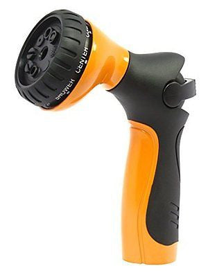 Metal Garden Hose Nozzle / Hand Sprayer - Light Touch Easy Thumb Control