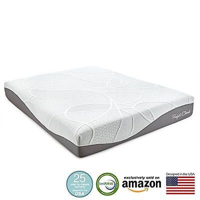 Perfect Cloud UltraPlush Gel-Max 10 Inch Memory Foam Mattress (King Size)