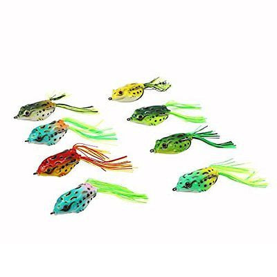 Threemart Fishing Lures For Freshwater,Topwater Frog Crankbait Tackle Bass Soft