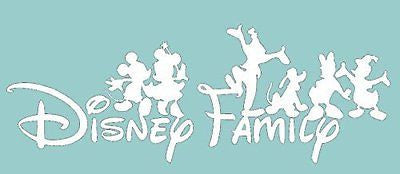 "Disney Family Mickey Mouse And Gang 6"" White Car Truck Vinyl Decal Art Wall"