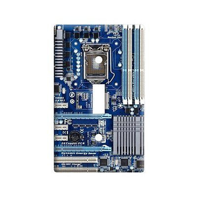 Blue Computer Motherboard - Processor CPU Memory - Plastic Wall Decor Toggle