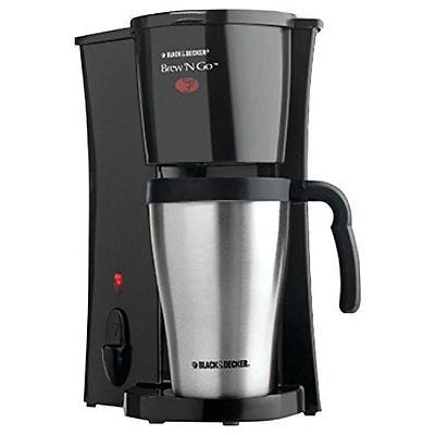 BLACK+DECKER DCM18S Brew 'n Go Personal Coffeemaker with Travel Mug