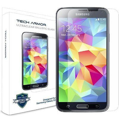 Galaxy S5 Glass Screen Protector, Tech Armor Premium Ballistic Glass Samsung