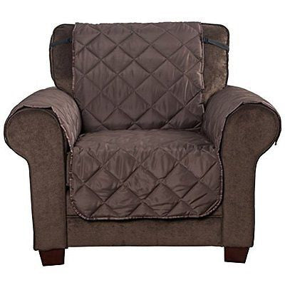 HAPYFOST Armchair Slipcover Reversible Sofa Protect ChairChocolate