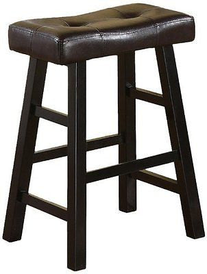 "Country Series Counter Stool - 24""H - in Espresso Finish Set of 2"