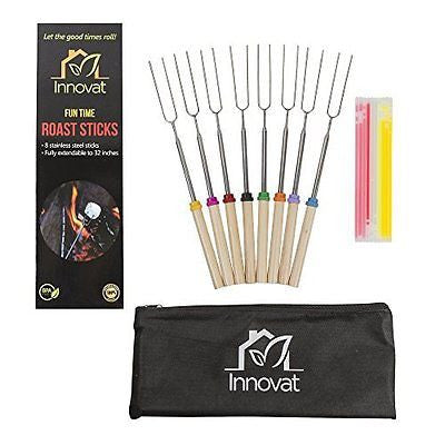 Marshmallow Roasting Sticks & Glow Sticks New Bundle - Best Camping