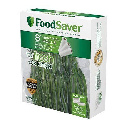 "FoodSaver 8"" Roll with unique multi layer construction BPA free 3pk"