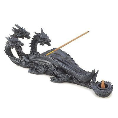 Gifts & Decor Triple Head Mythical Dragon Figure Incense Stick Burner