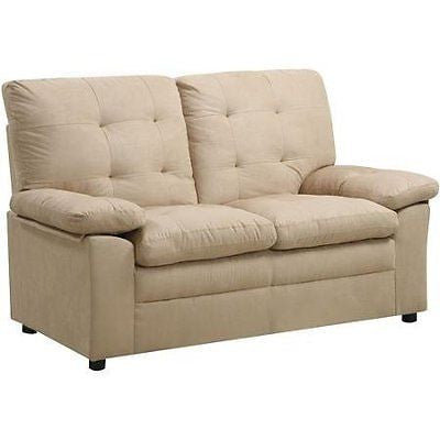 Buchannan Microfiber Loveseat, Multiple Colors