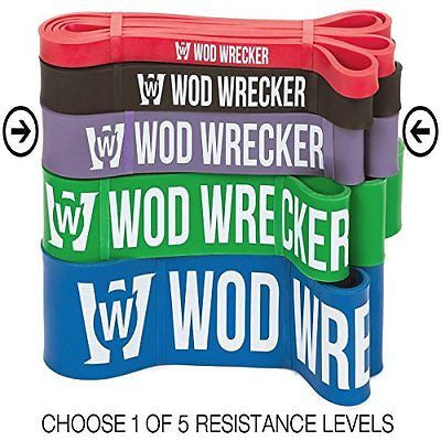 WOD Wrecker Pull Up Bands, Assist Band Designed for Doorway Pull-up Bar Trainer