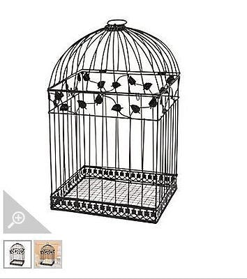 Black Metal Wedding Bird Cage Card Holder Beautiful Wedding Reception Piece!!