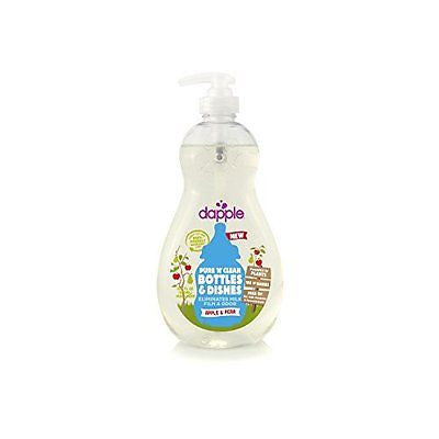 Dapple Pure 'N' Clean Baby Bottle and Dish Liquid, Mango-Melon, Clear