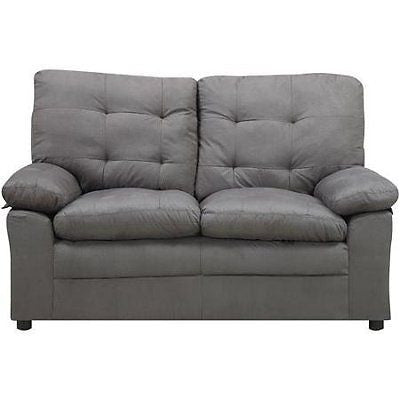 Microfiber Gray Loveseat, This Comfortable Grey Loveseat Is Ideal