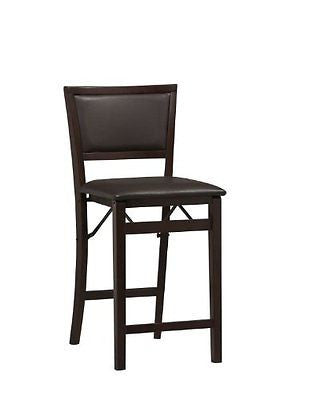 Linon Home Decor Keira Pad Back Folding Counter Stool 24-Inch