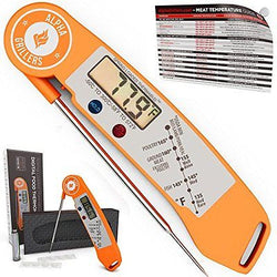 Alpha Grillers Instant Read Thermometer Cooking Tool Meat Temperature Chart