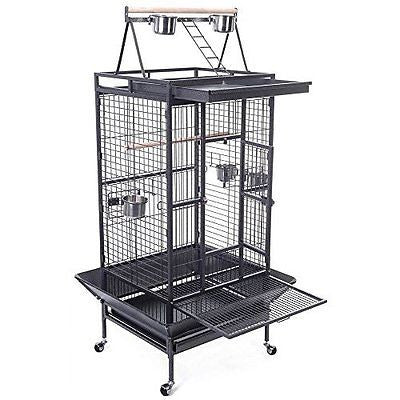 Bird Cage Large Play Top Parrot Finch Cage Macaw Cockatoo Parakeet Conure Pet