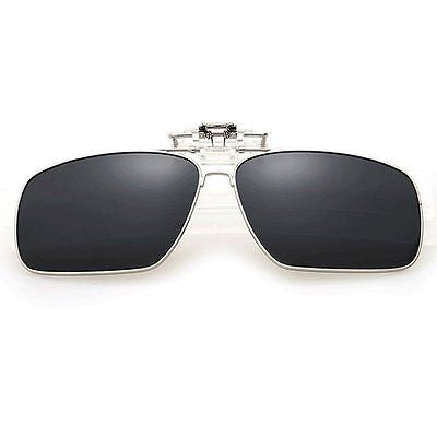 Fashion Classic Polarized Myopia Clip-on Flip up UV Protection Rectangular