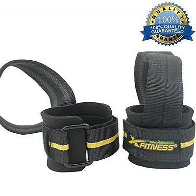 xFitness Heavy Duty Weight Lifting Straps Training Wrap - One Pair (2 Straps)