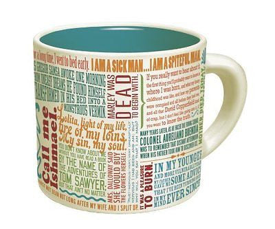 First Lines of Literature Mug - Literary Quotes Coffee Cup