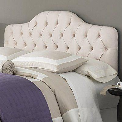 Martinique Upholstered Adjustable Headboard Panel with Solid Wood Frame