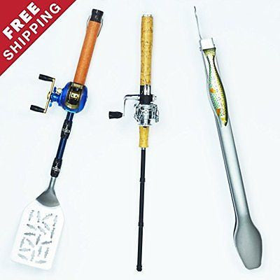 Spinning Reel Fisherman's BBQ Tool Set