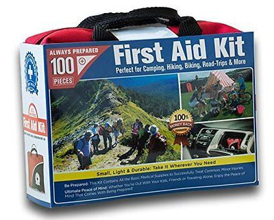 Small First Aid Kit 100 Piece: Car Home Survival