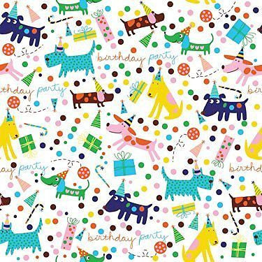 "'Barkday' Birthday Gift Wrapping Paper Roll 24"" X 16'"