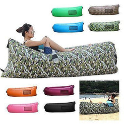 BonClare? Fast Inflatable Air Lounger, Camping Bed Beach Sofa Air Bag Hangout