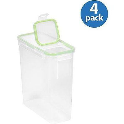 Snapware Airtight Plastic 15.3-Cup Fliptop Food Storage Container 4-Pack WLM