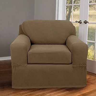 Maytex Pixel Stretch 2-Piece Slipcover Chair, Sand