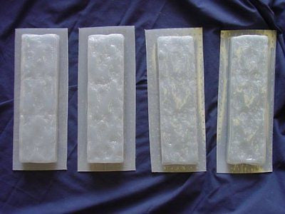 Textured Brick Facing Set of 4 Concrete Plaster Molds 6042