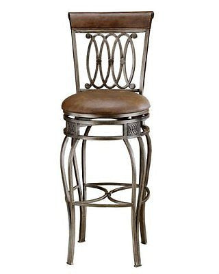 Hillsdale Montello 32-Inch Swivel Bar Stool Old Steel Finish