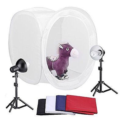 "Neewer? 30""/76cm Photography Shooting Tent Kit, Including (2) 30 Watt 5000K"