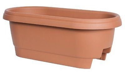 Fiskars 24 Inch Deck Rail Planter Box, Color Clay (477241-1001)