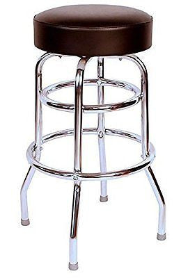 Budget Bar Stools 0-1952BLK Commercial Grade Restaurant Swivel Bar Stool