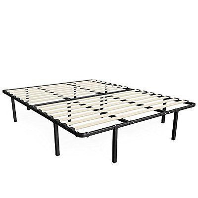 "14 ""Wooden Slat/Mattress Foundation/Platform Bed Frame/Box Spring Replacement"