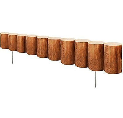 Greenes Fence Wood Log Edging, 5 x 30